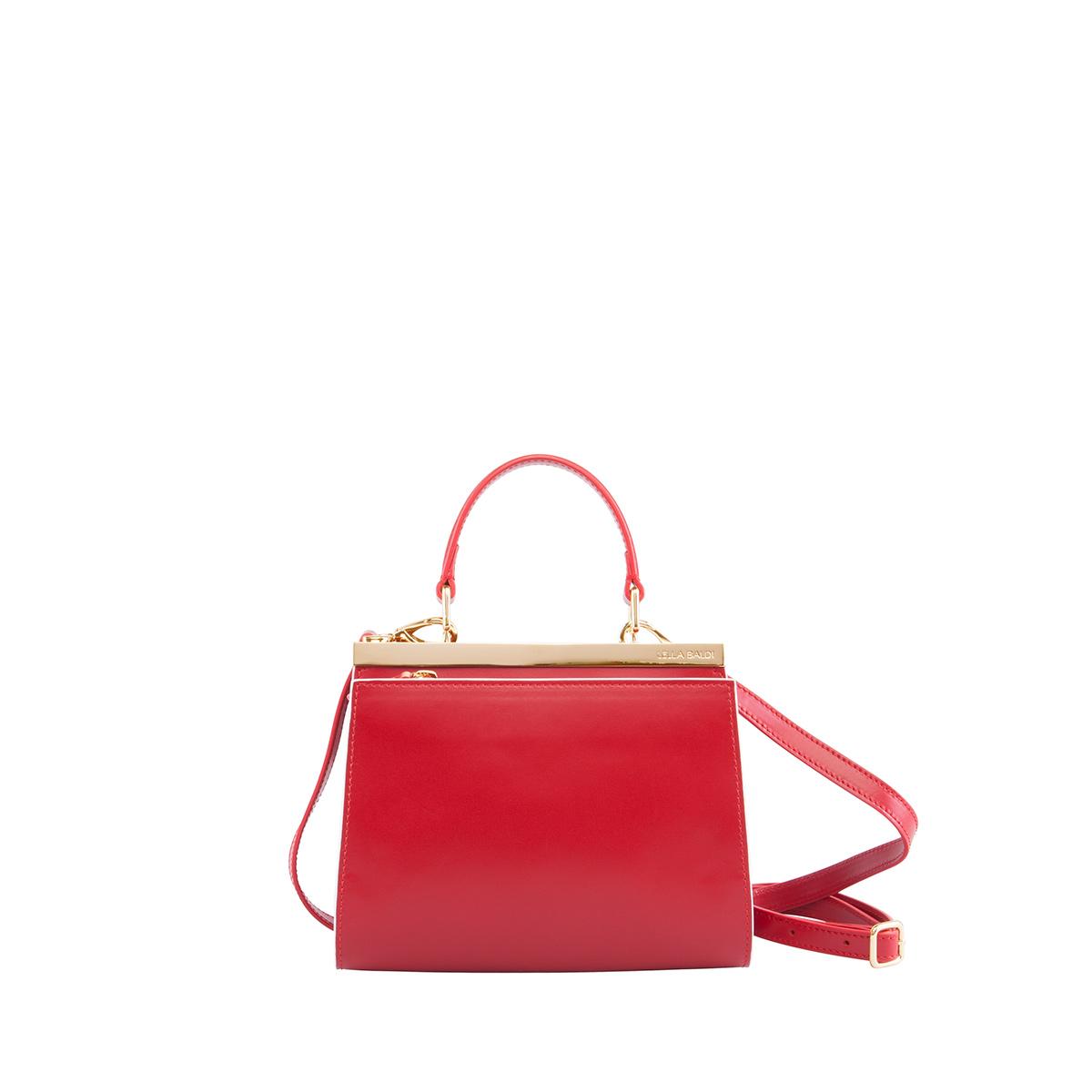 Wavy Bag Clutch, Rosso-Bianco