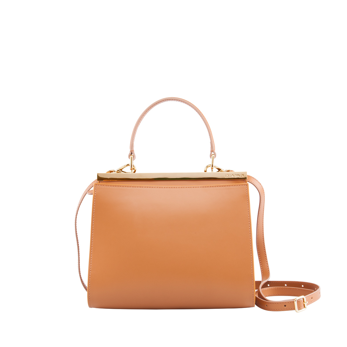 Wavy Bag Shoulder, Cuoio-Senape