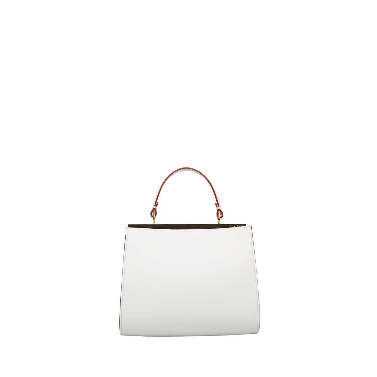 Wavy Bag Shoulder, Bianco-Mattone
